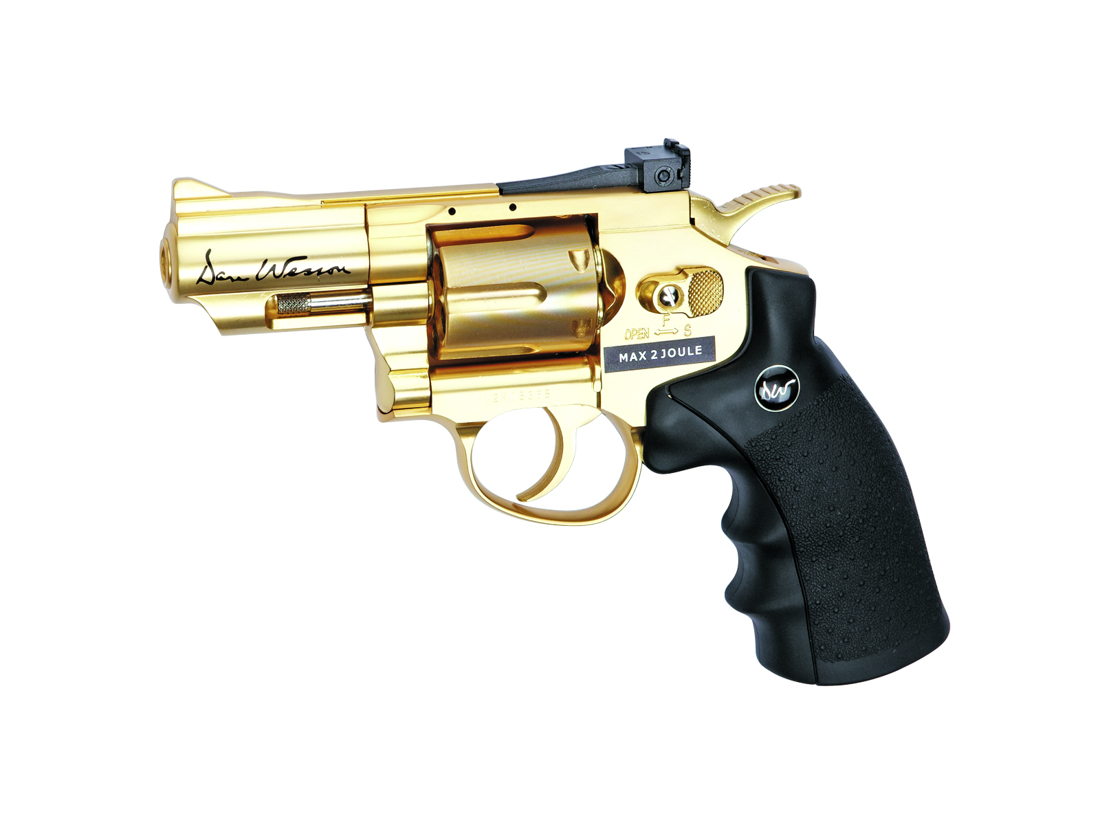 "Co2 Revolver Dan Wesson 2,5"" 4,5 mm Stahl BB Gold"