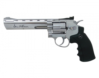 "Co2 Revolver Dan Wesson 6"" 4,5 mm Stahl BB Silber"