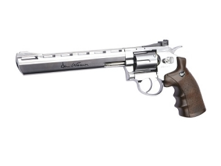 "Co2 Revolver Dan Wesson 8"" 4,5 mm Stahl BB Silber"